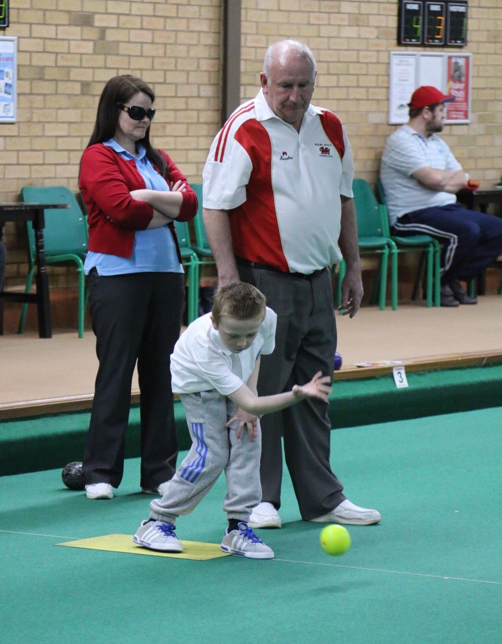 taking part in the bowls development day